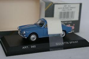 【送料無料】模型車 モデルカー スポーツカー アルファロメオスプリントカーdetailcars 143 alfa romeo giulietta sprint bleue