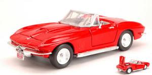 【送料無料】模型車 モデルカー スポーツカー シボレーコルベットレッドハットモデルヒートchevrolet corvette 1967 red 124 model motormax