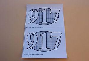 【送料無料】模型車 モデルカー スポーツカー ルマンヒコqo 2 certificat autocollant porsche 917 lh 18 le mans 1971 pour socle heco 143
