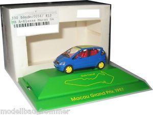 【送料無料】模型車 モデルカー スポーツカー モデルクラスモデルマカオグランプリherpa sondermodell mb aklasse macau grand prix 1997 187 pcmodell