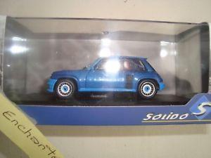【送料無料】模型車 モデルカー スポーツカー ミニチュアルノーターボヌフminiature solido renault 5 turbo 1980 bleue 143  neuf en boite