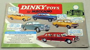 【送料無料】模型車 モデルカー スポーツカー オリジナルカラーページカタログdte original 1965 dinky catalog w24 color pages no writing