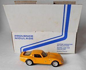 【送料無料】模型車 モデルカー スポーツカー alfa romeo tz 2 provence moulage resin hand built model yellow in box