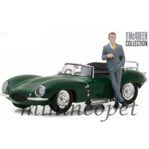 【送料無料】模型車 モデルカー スポーツカー ライトスティーブマックィーンジャガーgreenlight 86434 steve mcqueen 1957 jaguar xkss 143 with figure green