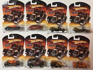 【送料無料】模型車 モデルカー スポーツカー ボックスオンホットホイールセット8 fright cars set of 8 hot wheels from 1990s early 2000s in box