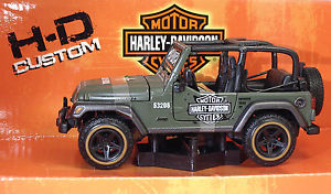 【送料無料】模型車 モデルカー スポーツカー ジープラングラールビコンハーレーダビッドスカラmaisto 32190 jeep wrangler rubicon harley metal scala 127