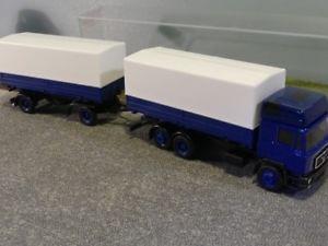 【送料無料】模型車 モデルカー スポーツカー 187 herpa man f90 blau wechselpritschen hngerzug 5000 g