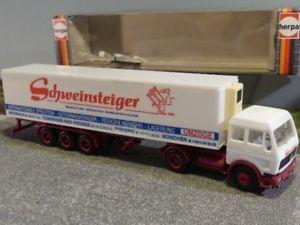【送料無料】模型車 モデルカー スポーツカー シュバインシュタイガー#187 herpa mb ng schweinsteiger spedition khlker sz 162