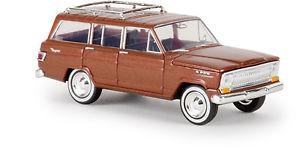 【送料無料】模型車 モデルカー スポーツカー brekina ho 19854 pkw gelndewagen jeep wagoneer, kupfermetallic, td  ovp neu