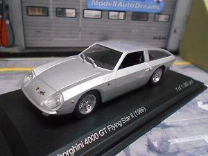 【送料無料】模型車 モデルカー スポーツカー ランボルギーニグアテマラグアテマラフライングスターシルバーネットワークホワイトボックスlamborghini 4000 gt 4000gt flying star ii 1966 silber ixo white box 143
