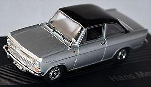 【送料無料】模型車 モデルカー スポーツカー opel kadett a coupe 196265 silber silver metallic 143 designer serie mersheime