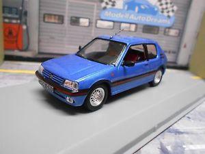 【送料無料】模型車 モデルカー スポーツカー peugeot 205 gti 16 1992 blau blue met neu ixo white box 143