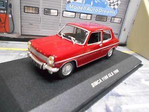 【送料無料】模型車 モデルカー スポーツカー ドアハッチバックsimca 1100 gls 3 trer 1969 rot red solido 143