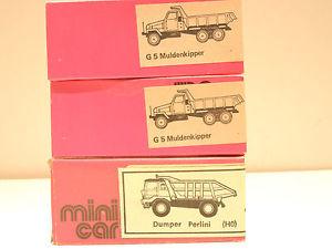 【送料無料】模型車 モデルカー スポーツカー veb 2 x g5 muldenkipper, 1 x dumper perlini,  3 x ovp 13