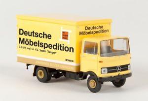 【送料無料】模型車 モデルカー スポーツカー ドイツ187 brekina mb lp 608 dms deutsche mbelspedition bitzer 48554