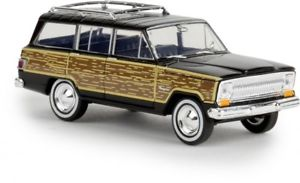 【送料無料】模型車 モデルカー スポーツカー ジープブラック187 brekina jeep wagoneer woody schwarz 19855