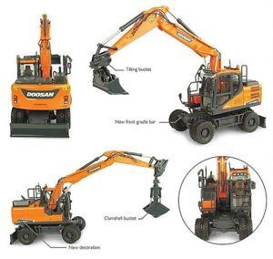 【送料無料】模型車 モデルカー スポーツカー トゥサンアタッチメントショベルモデルdoosan dx160w 2 attachment excavator escavatore 150 model 8134