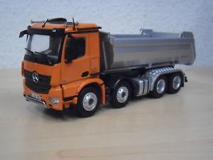 【送料無料】模型車 モデルカー スポーツカー メルセデスベンツダンプトラックオレンジnzg mercedesbenz arocs 4achs rundmuldenkipper orange nr 90565 150