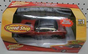 【送料無料】模型車 モデルカー スポーツカー プリマススピードショップホイールジョニー124 build 1970 hemi plymouth red cuda mopar speed shop wheels johnny lightning