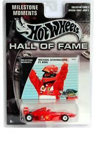 【送料無料】模型車 モデルカー スポーツカー マイルストーンミハエルシューマッハーホットホイールホール2003 hot wheels hall of fame milestone moments michael schumacher f1 king