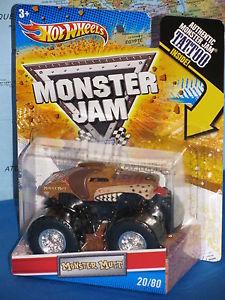 【送料無料】模型車 モデルカー スポーツカー ホットホイールモンスタージャムモンスタータトゥーhot wheels monster jam monster mutt tattoo 2080 **brand amp; rare**