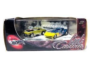 【送料無料】模型車 モデルカー スポーツカー 100 hot wheels cool amp; custom iii 1967 corvette amp; pro stree corvette 164 scale