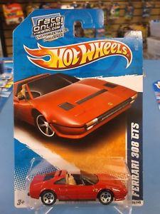 【送料無料】模型車 モデルカー スポーツカー ホットフェラーリホイール2011 hot wheels all stars ferrari 308 gts in red 128240