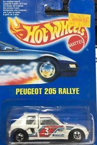 【送料無料】模型車 モデルカー スポーツカー ホットホイールプジョーラリーhot wheels peugeot 205 rallye