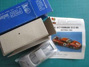 【送料無料】模型車 モデルカー スポーツカー ビンテージフェラーリデイトナカーホワイトメタルモデルキットvintage 143 ferrari 512bb daytona 82 fds 617 automodelli white metal model kit