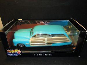 【送料無料】模型車 モデルカー スポーツカー ホットホイールスケールhot wheels 1950 merc woodie 118 scale