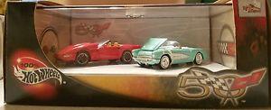 【送料無料】模型車 モデルカー スポーツカー ホットホイールコルベット100 hot wheels limited edition 50th corvette set