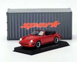 【送料無料】模型車 モデルカー スポーツカー スパークポルシェカレラカブリオレspark 143 1983 porsche 911 930 sc carrera cabriolet, red