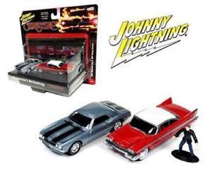 【送料無料】模型車 モデルカー スポーツカー ジョニープリマスフューリーシボレーカマロjohnny lightning christine 164 1958 plymouth fury amp; 1967 chevy camaro jlcp7042