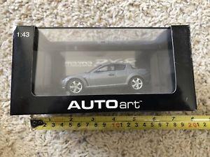 【送料無料】模型車 モデルカー スポーツカー マツダautoart 143mazda rx8 silver car collectible
