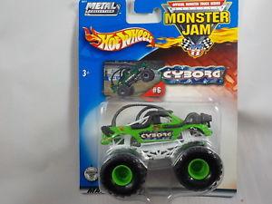 【送料無料】模型車 モデルカー スポーツカー ホットホイールモンスタージャムサイボーグ#hot wheels 164 monster jam cyborg 6 2002 htf   bini7