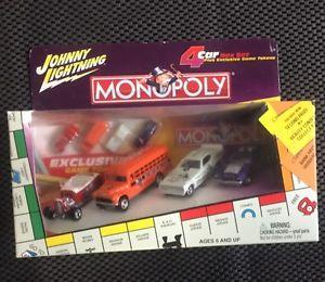 【送料無料】模型車 モデルカー スポーツカー ジョニースケールトークン2002 johnny lightning monopoly 164 scale 4car set with tokens