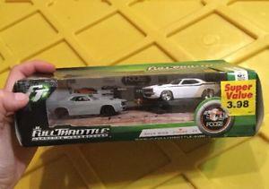 【送料無料】模型車 モデルカー スポーツカー チャレンジャーフルスロットルガレージボックスセット1971 challenger rc2 jl full throttle foose garage boxed set