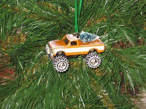 【送料無料】模型車 モデルカー スポーツカー シボレーシャイアンピックアップオレンジカスタムクリスマスオーナメントツリー