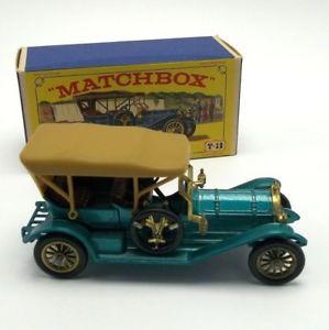 【送料無料】模型車 モデルカー スポーツカー マッチオリジナルボックストーマスイギリスmatchbox lesney 1909 thomas flyabout england in original box bluegreen