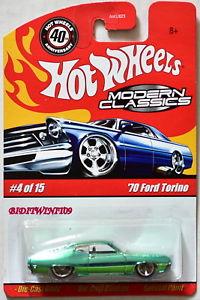 【送料無料】模型車 モデルカー スポーツカー ホットホイールモダンフォードトリノグリーンhot wheels modern classics 70 ford torino 415 green w