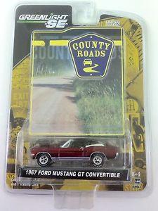 【送料無料】模型車 モデルカー スポーツカー フォードムスタングシリーズダイカスト1967 67 ford mustang gt convertible county roads series greenlight diecast rare