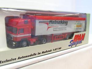 【送料無料】模型車 モデルカー スポーツカー スライドフロアトレーラawm 187 50750 man schubbodensattelzug heineking ovp mr2349