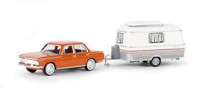 【送料無料】模型車 モデルカー スポーツカー ホオレンジbrekina ho 24431 pkw bmw 1500 orange mit eribawohnanhnger ovp neu