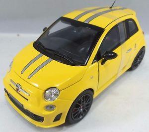 【送料無料】模型車 モデルカー スポーツカー フィアットアバルトトリビュートフェラーリスケールイエローbburago 1821070 fiat abarth 695 ferrari tribute scale 124 yellow