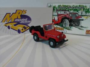 【送料無料】模型車 モデルカー スポーツカー ジープユニバーサルノベルティーarwico brekina 58904 jeep universal in rot 187 neuheit