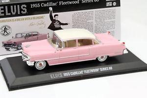 【送料無料】模型車 モデルカー スポーツカー キャデラックフリートウッドシリーズエルビスプレスリーピンクcadillac fleetwood series 60 elvis presley baujahr 1955 pink mit weiem dach 1
