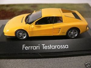 【送料無料】模型車 モデルカー スポーツカー フェラーリ143 herpa ferrari testarossa gelb 21,99 statt 30 sonderpreis 010351
