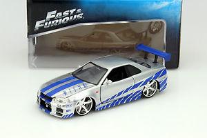 Aus Dem Film 2 Fast 2 Furious 2003 1:24 Jada Toys r34 Nissan Skyline Gt-r