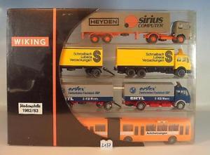 【送料無料】模型車 モデルカー スポーツカー モデルトラック#wiking 187 nr 198302 werbemodelle 198283 3 x lkw 1 x gelenkbus ovp 2137
