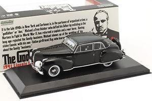 【送料無料】模型車 モデルカー スポーツカー リンカーンコンチネンタルゴッドファーザーlincoln continental with bullet whole damage film the godfather 1972 schwarz 14